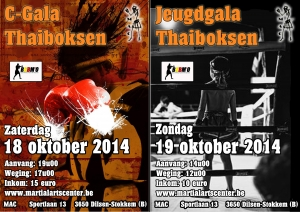 Thaiboksweekend @ MAC in oktober 2014