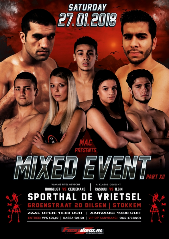 Mixed Event XII op 27 januari 2018