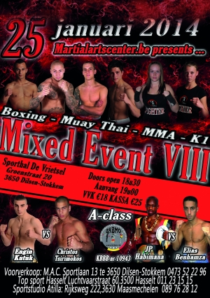 MIXED EVENT VIII in aantocht op 25 januari